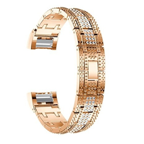 High Quality Watch Band Zinc Alloy Women Fashion Simple Style Wrist Strap for Fitbit Charge 2