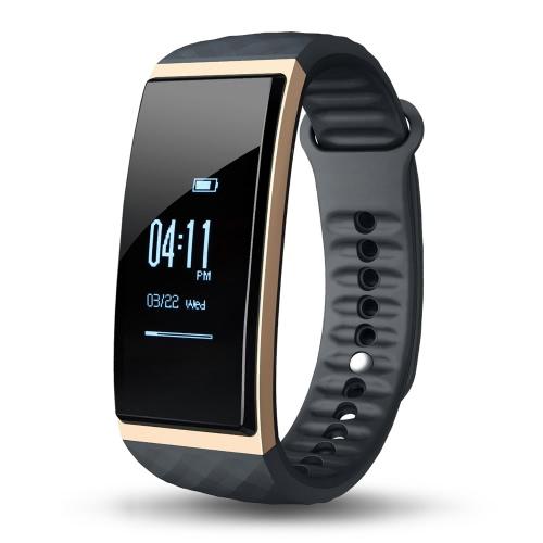 CUBOT S1 Smart Band 0,96 polegadas OLED Screen 128 * 64pixel IP65 BT 4.0 Pulseira inteligente Freqüência cardíaca Monitor de sono Monitor de pressão de ar / temperatura Câmera de controle remoto GPS Motion Trail para iPhone 6 6S 6 Plus 6S Plus 7 Plus Samsung S6 S7 Edge Android iOS Smartphone