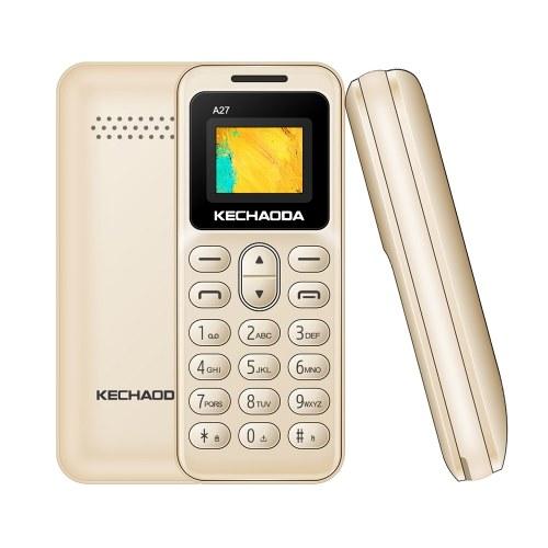 """KECHAODA A27 2G GSM Fonction Téléphone Double SIM 0.66 """"32 Mo BT Dialer 350mAh Batterie Détachable MP3 / FM Mini Téléphones Mobiles pour Enfants Seniors"""