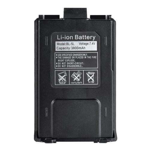 BAOFENG BL-5L Bateria ampliada Li-ion de alta capacidade 7.4V 2100mAh para baterias de rádio Baofeng UV 5R UV-5R bidirecionais