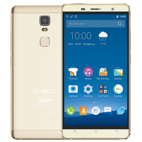 "CUBOT Cheetah Smartphone 4G Android 6.0 OS MTK6753A Octa Core 5.5 ""IPS FHD Screen 3GB RAM 32GB ROM 8MP 13MP Dual Cameras 7.95mm Super Slim Full Metal Frame Limpar Mestre FingerPrint Sensor 2.5D Rounder Display 5G Wifi"