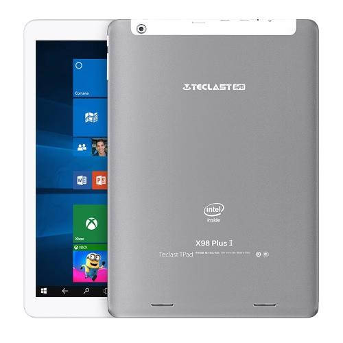Teclast X98プラスIIタブレットPCのAndroid 5.1 / Windowsの10ホームチェリートレイルX5の9.7inchのIPS画面1.84GHz 4:3 4ギガバイトのRAM 64ギガバイトROM 200万画素200万画素のデュアルカメラ、デュアルステレオスピーカー
