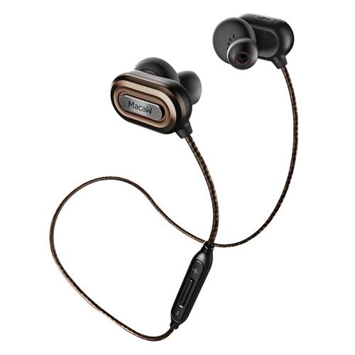 Original Stereo Macaw T1000 Universal fone de ouvido BT CSR8645 BT4.1 HiFi Music In-Ear Earbud Auriculares Auricular sem fios Correr Desporto Sweatproof Fone de ouvido com microfone para iPhone 6 6S 6 Plus 6S Além disso Samsung S7 S6 Smartphones ponta