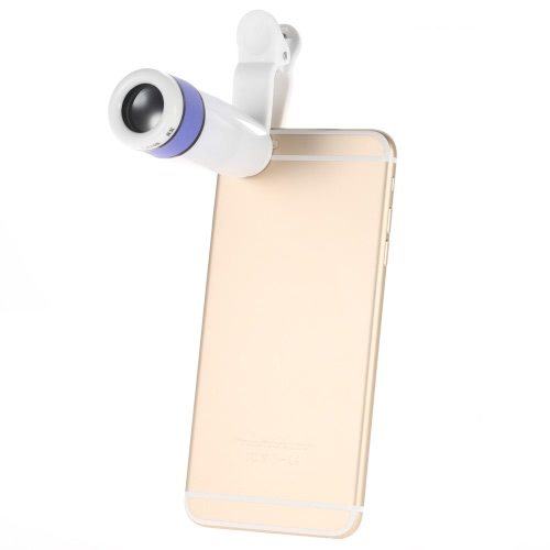 Universal 8X Zoom Phone Telephoto Camera Lens with Clip for iPhone Samsung HTC Photography