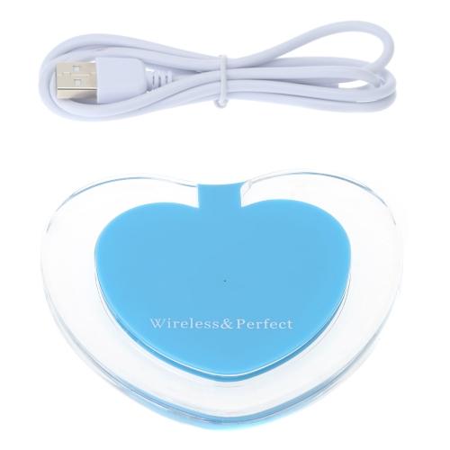 Original de carregamento portátil almofada coração bonito forma Qi Wireless carregador para Samsung Galaxy S6 S6 borda mais