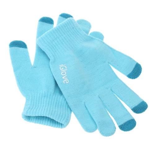 ファッション 指画面タッチ 手袋 暖かい 冬ニットグローブ フリーサイズ ミトン 携帯電話タブレットパッド 現金機用