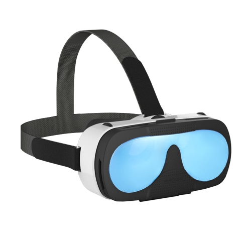 "VRTOTO VR 3D Glasses Headset Virtual Reality Function 3D Movies Blue-glass Lenses Focal Length Distant View Adjust for iPhone 6 6S 6 Plus 6S Plus 6"" and Below   Smartphone PA3540BL"