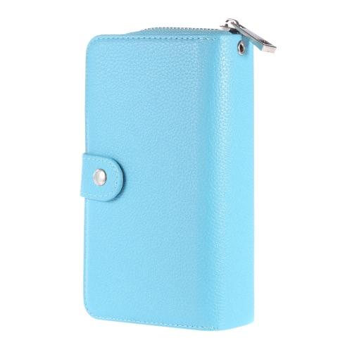 KKmoon 2 w 1 Zipper Portfel Pokrowiec na telefon