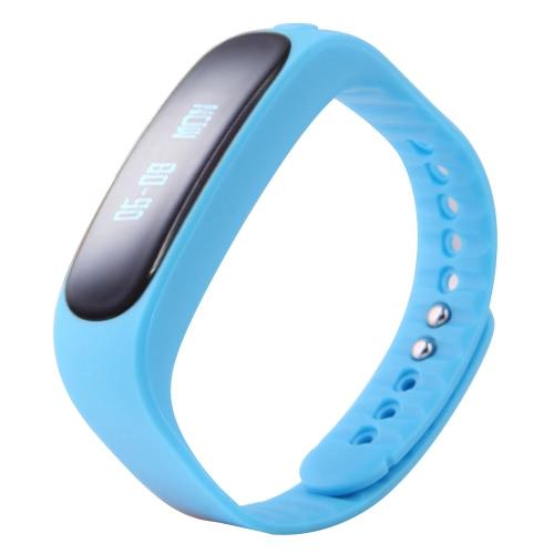 E02 inteligente BT Sport Watch Pulseira Pulseira TPU Banda 0,84 polegadas 96 * 16 pixels OLED sensível ao toque Tela Texto de chamadas de entrada Notificação pedômetro Reminder sedentário para iPhone borda 6 6S 6 Plus 6S Além disso Samsung S6 S7 Android 4.3 ou acima iOS7.0