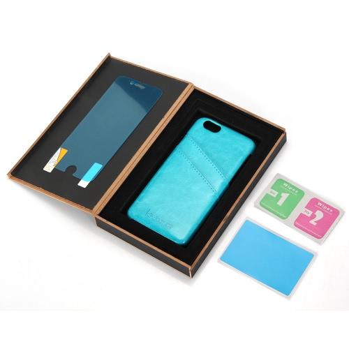 leeHUR véritable cuir téléphone cas Back Cover coque de protection + protecteur d'écran