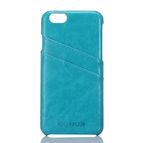 leeHUR Genuine Leather Phone Case Protective Back Cover Shell + Screen Protector for 5.5 Inches iPhone 6 Plus 6S Plus Eco-friendly Material Stylish Portable Ultrathin Anti-scratch Anti-dust Durable