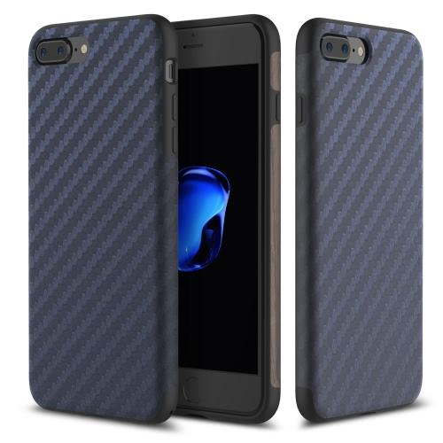 ROCK włókna węglowego zboża obudowa telefonu TPU 360 stopni Pełna obudowa telefonu Protect obudowa ochronna wysokiej jakości miękka obudowa dla iPhone 7 Plus 5.5inch