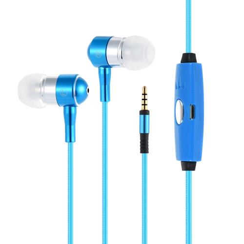 DP-0174 EL lumière Luminous dans l'oreille Earbud Sport Portable casque stéréo Courir casque écouteur mains libres 3.5mm avec micro pour iPhone 6 6S plus bord 7 Plus Samsung S6 S6 bord S7