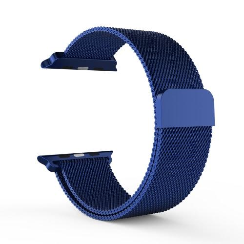 Malha Faixa de aço inoxidável Milanese Metal-net pulseira laço Ímã de bloqueio Bracelet substituição personalizado ajustável para Apple iWatch 38 milímetros de Design de Moda