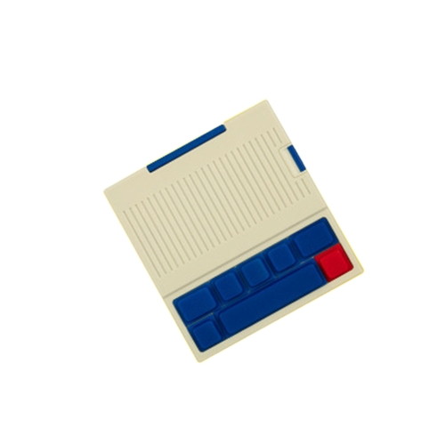 Портативный Power Bank сбрасывает напряжение Vintage Keyboard Внешняя телефонная зарядка для iPhone и более красная