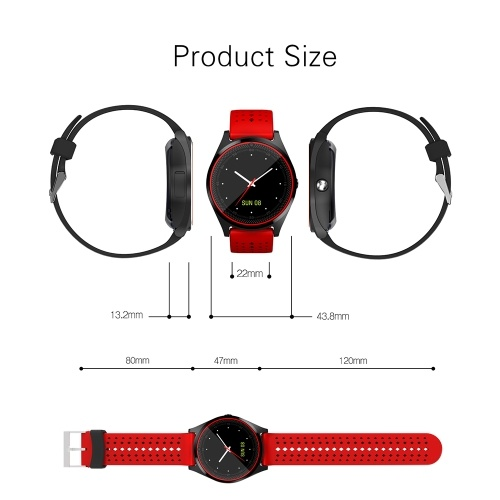 """Multi-functional V9 Smart Watch BT Smartwatch 1.22"""" Touchscreen IPS Display with Camera Built-in SIM Card & TF Card Slot Wristwatch Pedometer Sleep Monitor thumbnail"""
