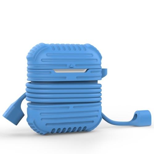 Schutzhülle aus Silikon für Air Pods Protection Skin Blue