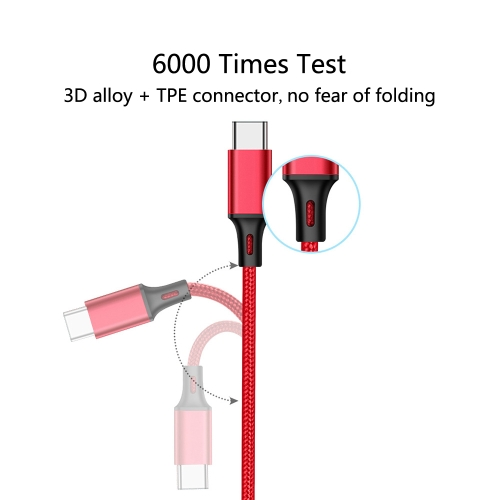 High-quality Nylon Braided Type-C Data Cable Fast Charge Stable Data Transmission Charging Cable for Samsung Galaxy S9 S8 Note 8 LG V30 G6 G5 OnePlus 5 3T