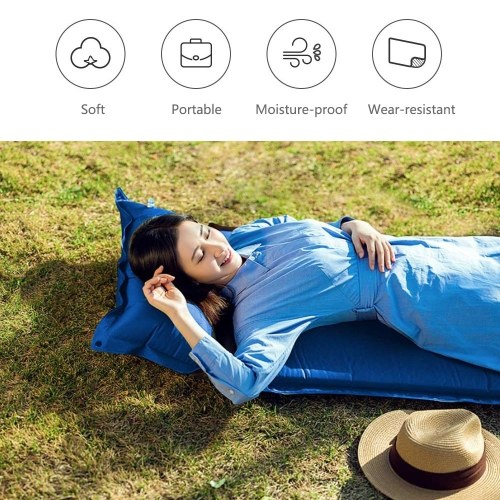 Xiaomi Zaofeng Outdoor Single Automatic Inflatable Cushion Sleeping Bag Camping Mat Fast Filling Air Moisture-proof Hiking Camping Beach Picnic Mat Air Sofa bed Sleeping Pad
