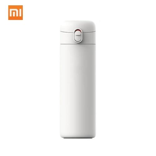 Xiaomi pinlo vacuum cup portátil de aço inoxidável de refrigeração 6 horas frasco de água garrafa inteligente única mão no bloqueio de isolamento 530 ml