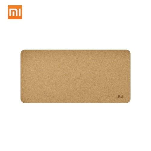 (Middle Size 850mm x 420mm) Original Xiaomi Mijia Oak Natural Cork Mouse Pad Anti-fouling Waterproof Touch Bendable Mousepad Desktop