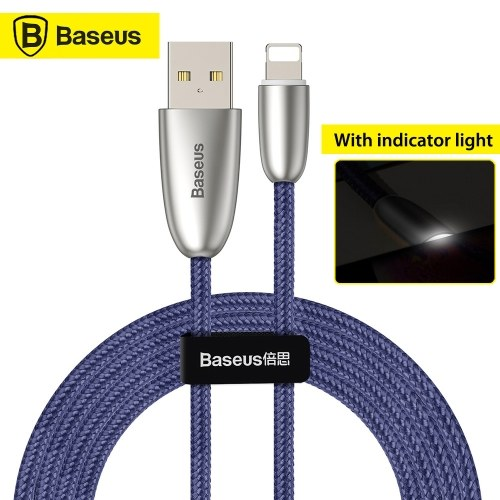 Xiaomi Baseus Torch Data Cable With Indicator Light USB Charger Charging Cable 1.5A Fast Charging Line Compatible For iPhone