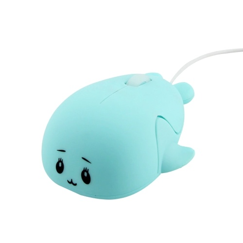 Dolphin Shape Wired Mouse Cute Mini Laptop Mouse