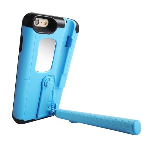 TASHELLS Caixa de telefone Selfie Stick dobrável para iPhone 6 Plus 6S Plus Multifuncional portátil Auto-Stick Phone Shell Anti-scratch Anti-choque