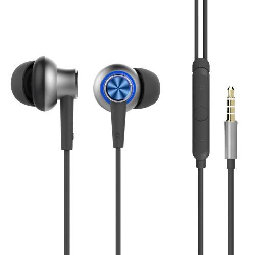 ROCCIA originale Y5 stereo da 3,5 mm-ear stereo auricolare HiFi Bass auricolare auricolari vivavoce con microfono per Samsung HTC Xiaomi Smartphone