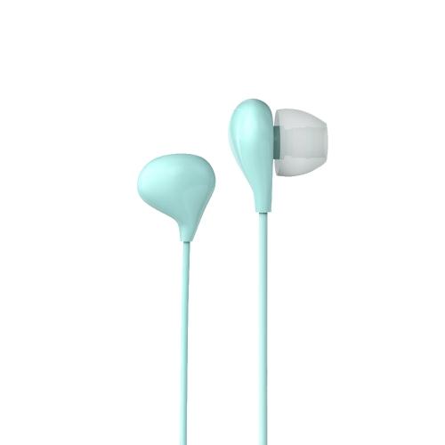 V4S BAYASOLO fone de ouvido estéreo estéreo fone de ouvido baixo 3.5mm Jack com fio Controle de volume de controle de volume Ligar mãos-livres para smartphones