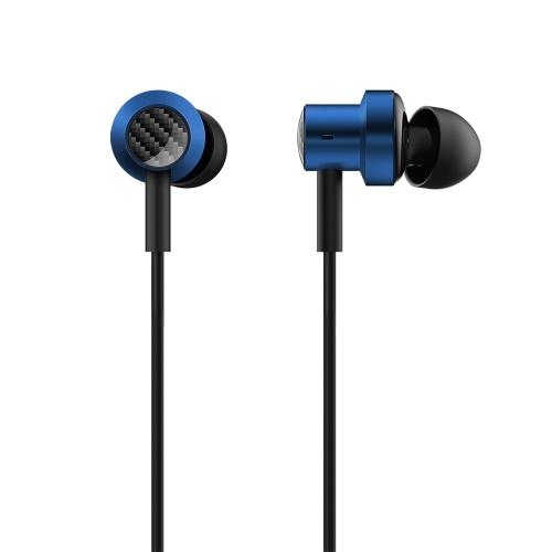Наушники Xiaomi Dual Motion In-Ear 1,25 м, проводная гарнитура, разъем 3,5 мм / HD Voice / усиление низких частот / Наушники с трехкнопочным управлением, совместимые с телефонами