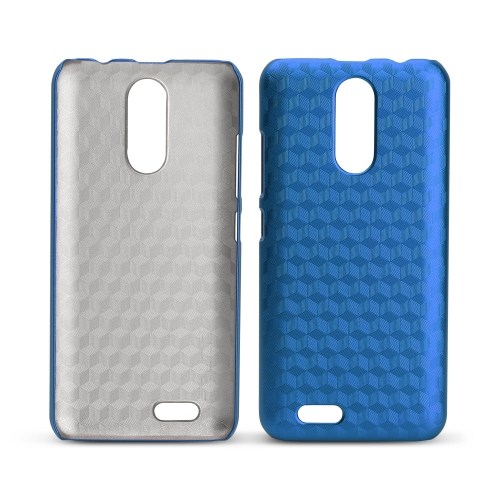 OCUBE Rhombic Lattice Phone Case para 5.5 polegadas OUKITEL C8 Hard Plastic Protective Phone Cover Anti-scratch Anti-choque