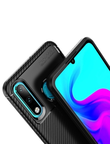 Phone Case Carbon Fiber TPU Phone Protection Cover Simple Lightweight Mobile Phone Protector for HUAWEI P30 Lite PAP0404BL-30L