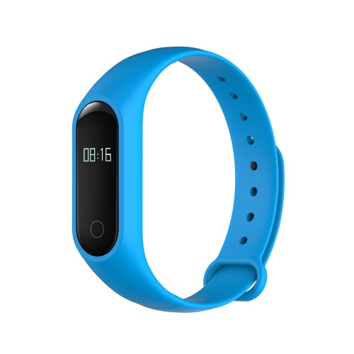 OUKITEL A16 Smart Band 0.42inch OLED Screen Dialog DA14580 CPU BT V4.0 60mAh Battery IP54 Waterproof Vibration Hot Spot Pulse Sensor Intelligent Sports Band Bracelet Pedometer Calories Heart Rate Sleep Monitor Call Reminder Distance Wrist Band for Samsung S6 S7 Plus Xiaomi Huawei Android Tablets Smartphones, TOMTOP  - buy with discount