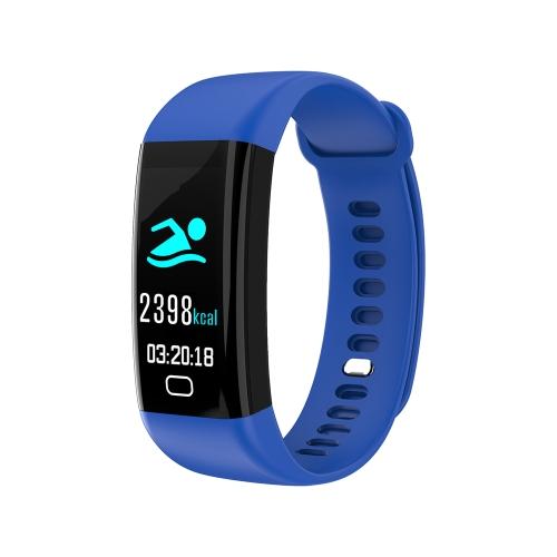 F07 IP68 Tela a cores impermeável Banda Fitness Braceletes inteligentes Heart-rate BT Sport Wristband Calls Notification Activity Tracking Sleep Monitor para iPhone 8 Plus Samsung S8 + iOS8 Android4.4