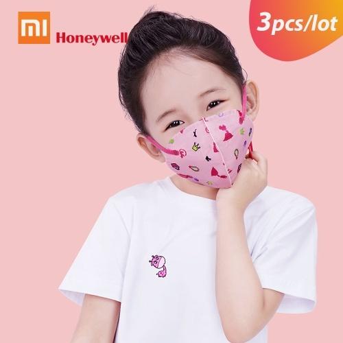 Xiaomi Honeywell Lite Bocca Maschere per il viso Ciclismo portatile anti-polvere Maschere per la protezione del viso Maschere Orecchio appeso Design 3D per bambini Donne 3 pz / lotto M