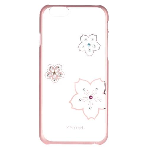 Original luxo X-Fitted 360 ° completo protetora clara volta caso placa pára-choques telefone Shell difícil cobrir com Swarovski Rhinestones chapeamento de Design para o iPhone 6 Plus 6S Plus 5,5 polegadas