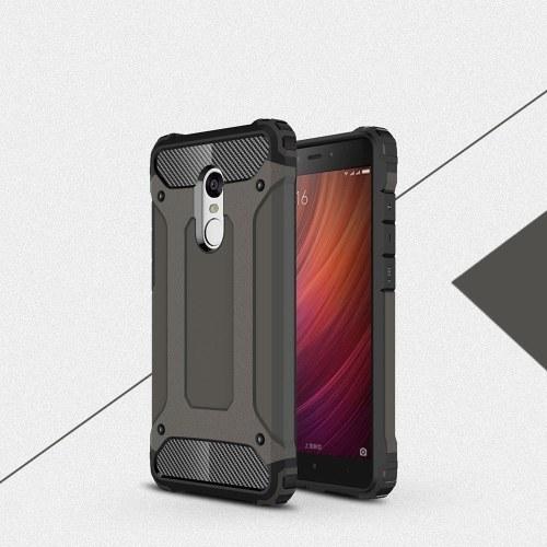 Per Xiaomi Redmi Note 4 Custodia Slim Fit Doppio strato Cover posteriore rigida Protezione antiurto e antiscivolo Custodia antigraffio da 5,5 pollici