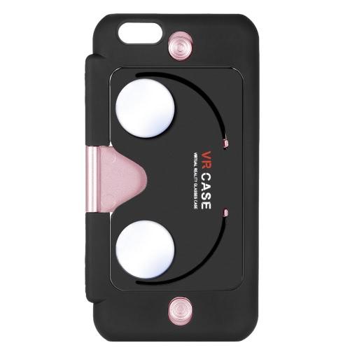 2-em-1 VR protetora Case Phone Case de costas com realidade Virtual óculos função Stand para iPhone 6 6S