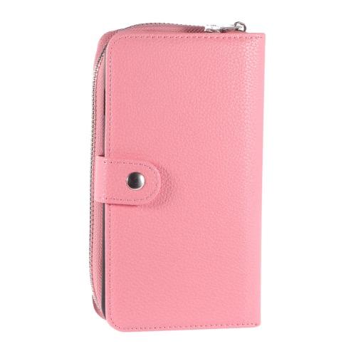 KKmoon 2 em 1 Zipper Caso Wallet tampa do telefone PU protetora de couro Folio destacável flip Shell Holster Estojo titular do cartão para o iPhone 6 6S 4.7inch