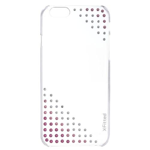 5.5インチiPhone 6プラス6Sプラス環境に優しい素材のスタイリッシュなポータブル超薄型アンチスクラッチアンチダスト耐久性のためのX-嵌スワロフスキーめっき電話ケース保護カバーシェル