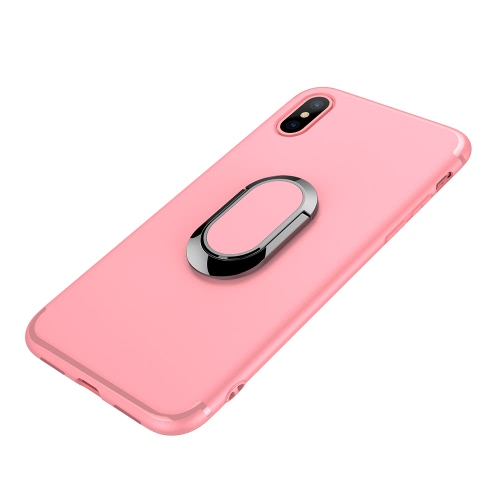 Telefon-Fall-Mobiltelefon-Kasten-schützende Shell-rückseitige Abdeckung mit 360 ° Rotations-Finger-Ring-Halter für iPhone X