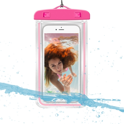 Universal Luminous Fluorescence PVC Waterprooof Smart Phone Bag para todos os telefones