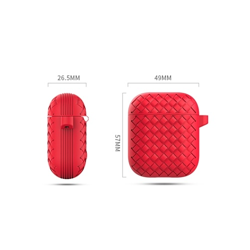 Woven Pattern Series Protective Cover for Air Pods Protection Pink