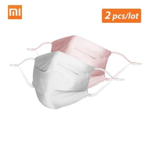 2 pçs / lote Xiaomi Mijia PMA Máscara De Poeira De Seda
