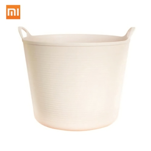 Xiaomi Youpin Jiezhi Dirty Clothes Basket Laundry Basket Round Storage Clothes Toy Holder Bucket Organizer Large Capacity Binaural Design Elastic PP Material