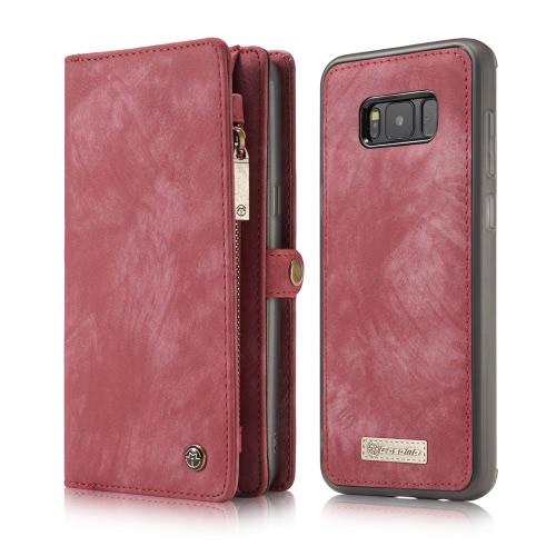 CaseMe 008 Caixa multifuncional para telefone com carteira Capa protetora para cartão de 5,8 polegadas Samsung Galaxy S8 Eco-friendly Stylish Portable Anti-scratch Anti-dust Durable