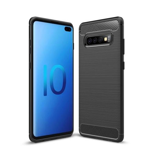 Чехол для телефона из углеродного волокна волочения проволоки TPU Защитная крышка телефона Простой легкий протектор мобильного телефона для Samsung Galaxy S10 Plus