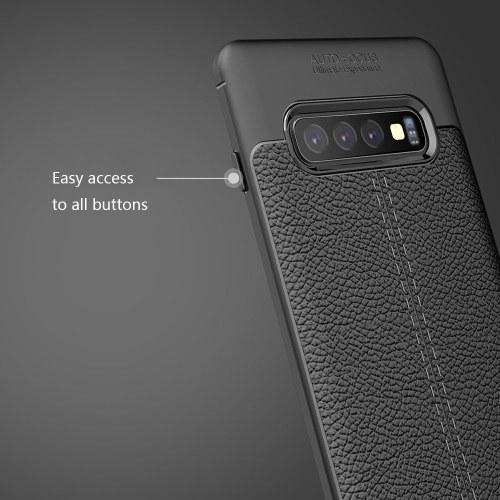 Кожаный чехол для телефона ТПУ Защитный чехол для телефона Простой легкий протектор мобильного телефона для Samsung Galaxy S10 Plus фото