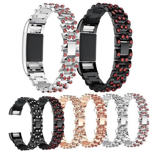 Hohe Qualität Uhrenarmband Zink-Legierung Frauen Mode Einfachen Stil Handschlaufe für Fitbit Charge 2